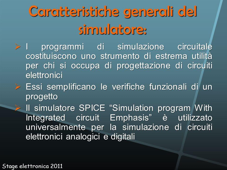 I programmi di simulazione circuitale costituiscono uno strumento di estrema utilità per chi si occupa di progettazione di circuiti elettronici I prog