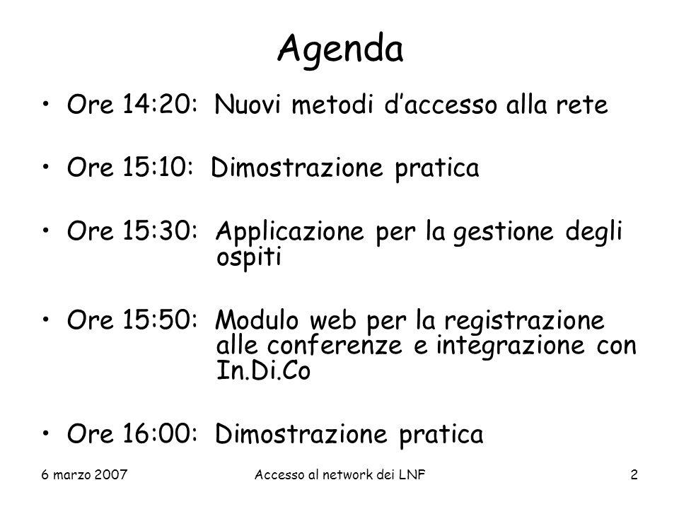 Gestione Ospiti Presentazione: Claudio Bisegni Servizio di Calcolo