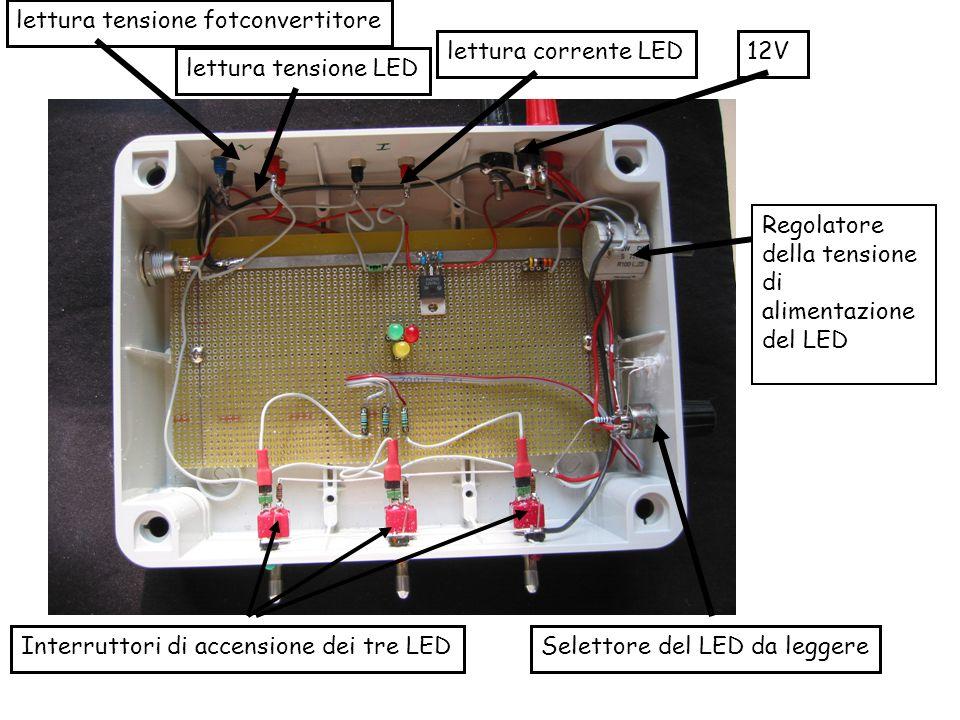 Selettore del LED da leggere Regolatore della tensione di alimentazione del LED Interruttori di accensione dei tre LED 12Vlettura corrente LED lettura