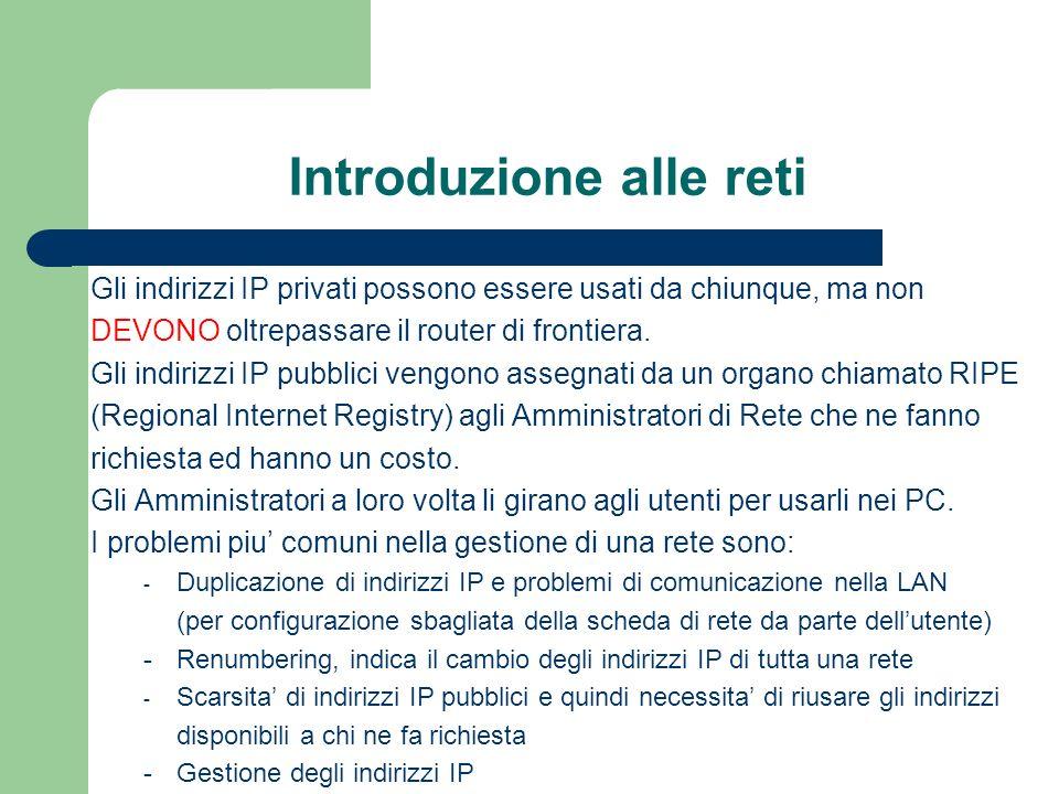 DNS (Domain Name System) itarpa libero pcd dhcp dns1 dns2www ….