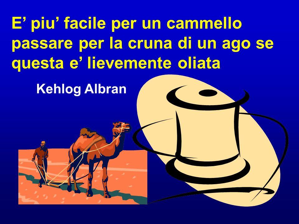 E piu facile per un cammello passare per la cruna di un ago se questa e lievemente oliata Kehlog Albran