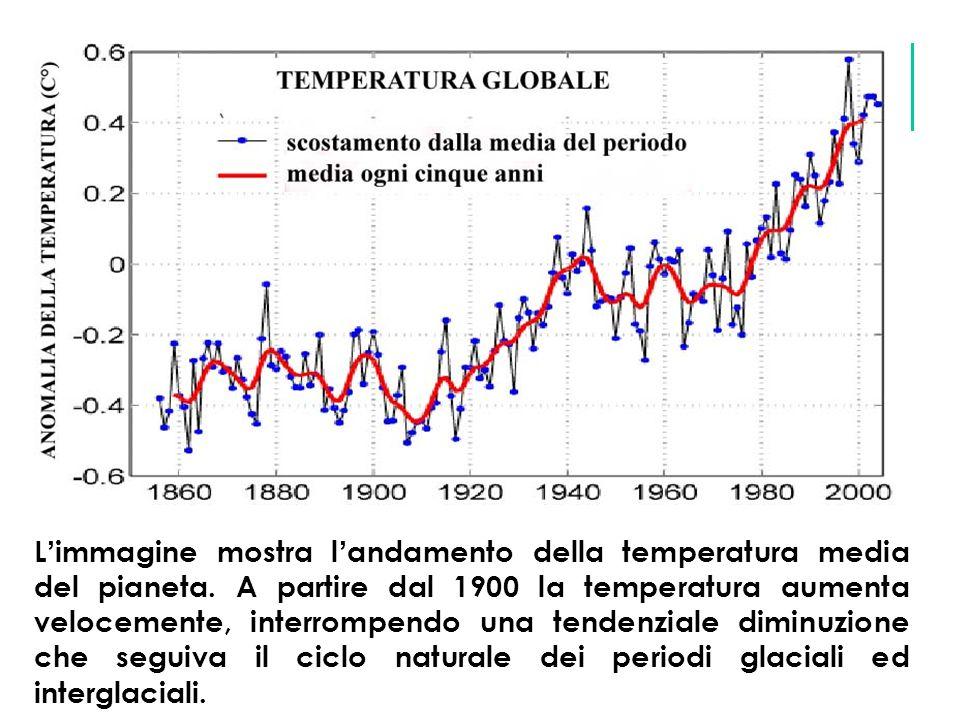400350300250200150100500 T°C CO 2 ppm 300 200 +5 -9 250 0 migliaia di anni