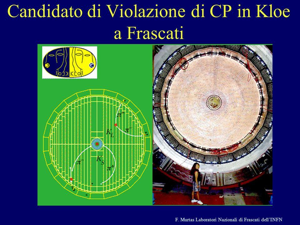 F. Murtas Laboratori Nazionali di Frascati dellINFN Candidato di Violazione di CP in Kloe a Frascati
