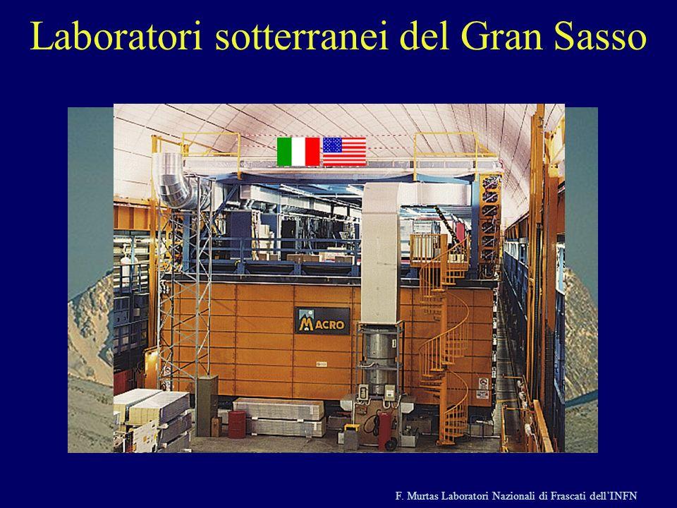 F. Murtas Laboratori Nazionali di Frascati dellINFN Laboratori sotterranei del Gran Sasso