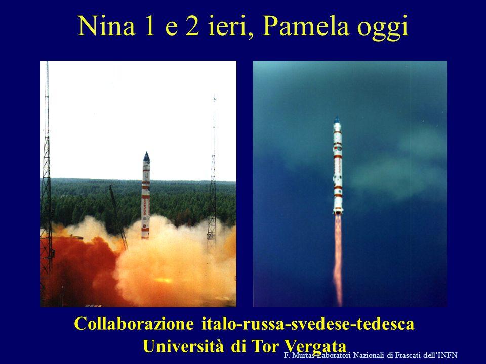 F. Murtas Laboratori Nazionali di Frascati dellINFN Nina 1 e 2 ieri, Pamela oggi Collaborazione italo-russa-svedese-tedesca Università di Tor Vergata