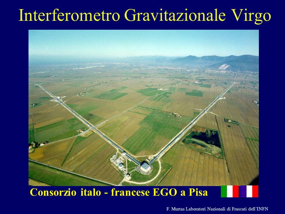 F. Murtas Laboratori Nazionali di Frascati dellINFN Interferometro Gravitazionale Virgo Consorzio italo - francese EGO a Pisa