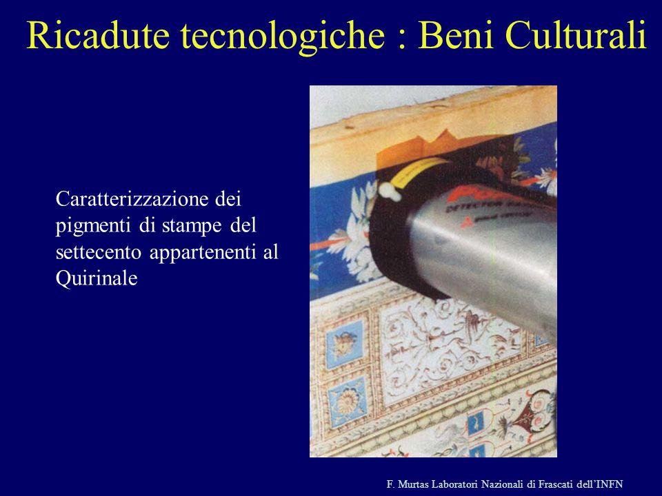 F. Murtas Laboratori Nazionali di Frascati dellINFN Ricadute tecnologiche : Beni Culturali Tecniche nucleari applicate ai beni culturali Caratterizzaz