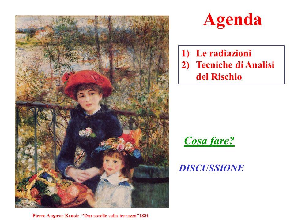 Agenda 1)Le radiazioni 2)Tecniche di Analisi del Rischio Cosa fare.