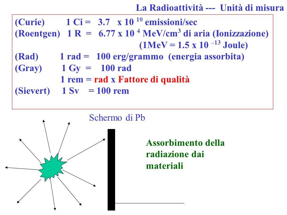 Le radiazioni sono piccoli proiettili Si muovono alla velocità della luce Sono tanti Ionizzano gli atomi Possono modificare i meccanismi della vita de