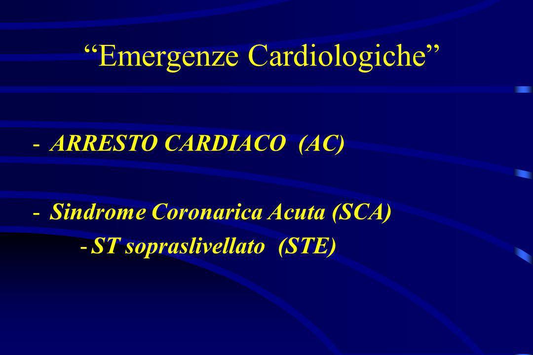 Emergenze Cardiologiche -ARRESTO CARDIACO (AC) -Sindrome Coronarica Acuta (SCA) -ST sopraslivellato (STE)