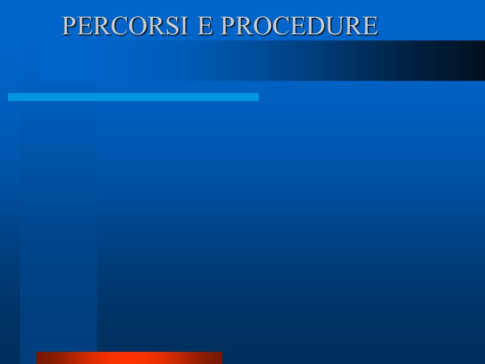 PERCORSI E PROCEDURE