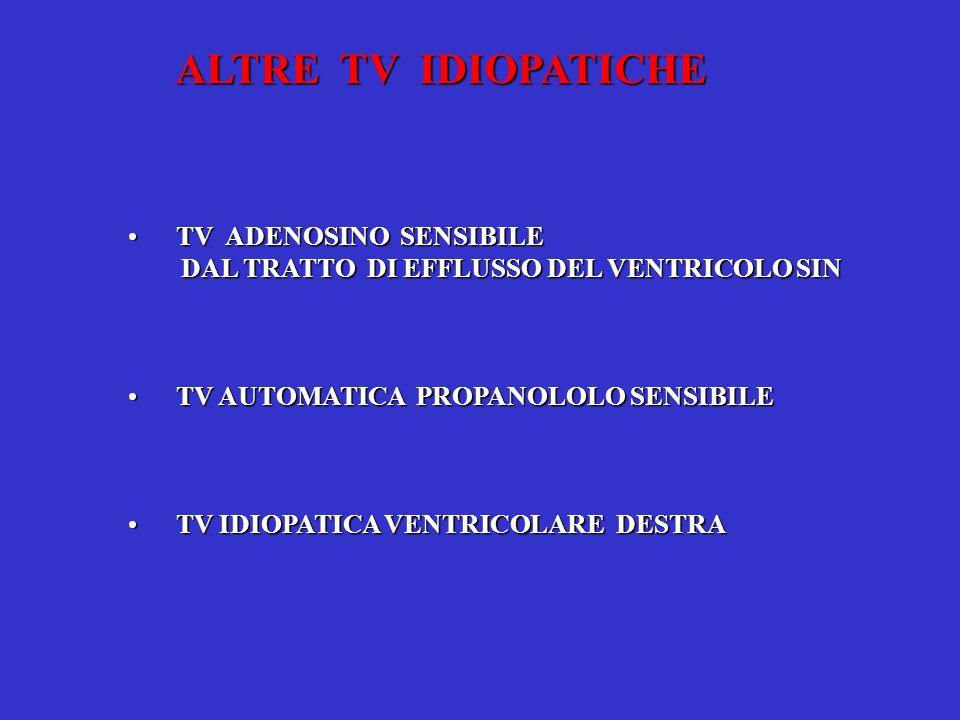 TV ADENOSINO SENSIBILETV ADENOSINO SENSIBILE DAL TRATTO DI EFFLUSSO DEL VENTRICOLO SIN DAL TRATTO DI EFFLUSSO DEL VENTRICOLO SIN TV AUTOMATICA PROPANO