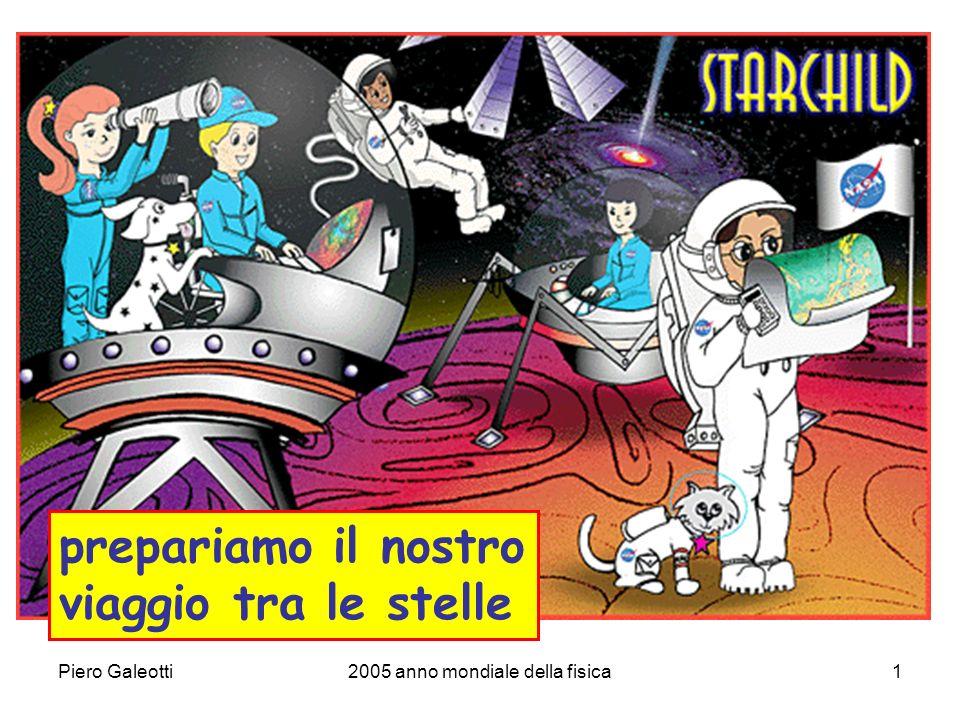 Piero Galeotti2005 anno mondiale della fisica1 prepariamo il nostro viaggio tra le stelle