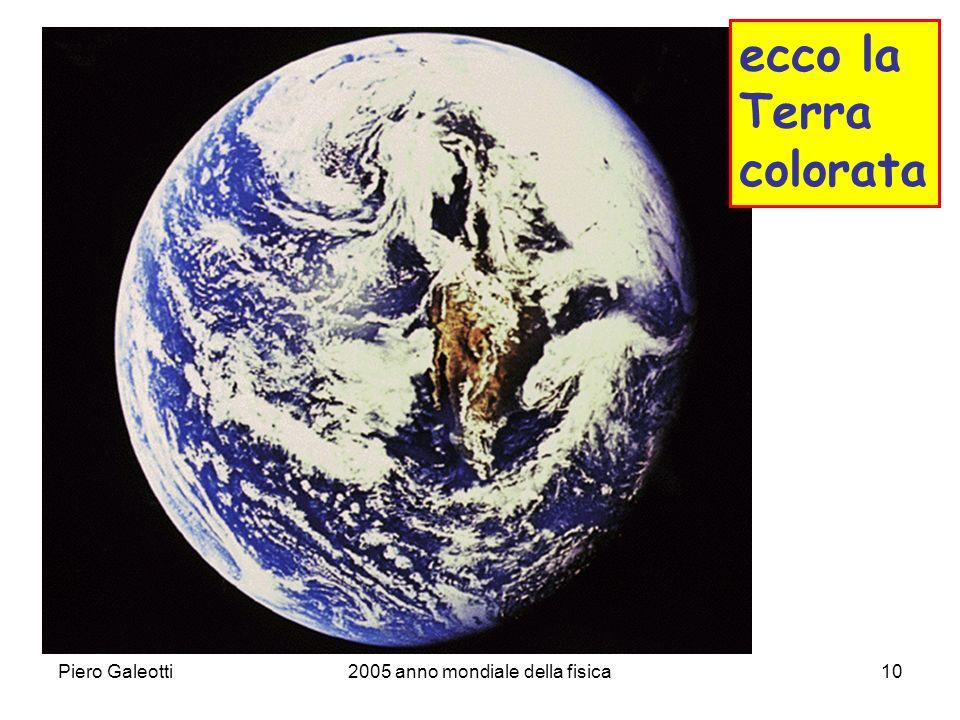 Piero Galeotti2005 anno mondiale della fisica10 ecco la Terra colorata