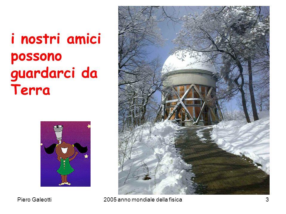 Piero Galeotti2005 anno mondiale della fisica3 i nostri amici possono guardarci da Terra