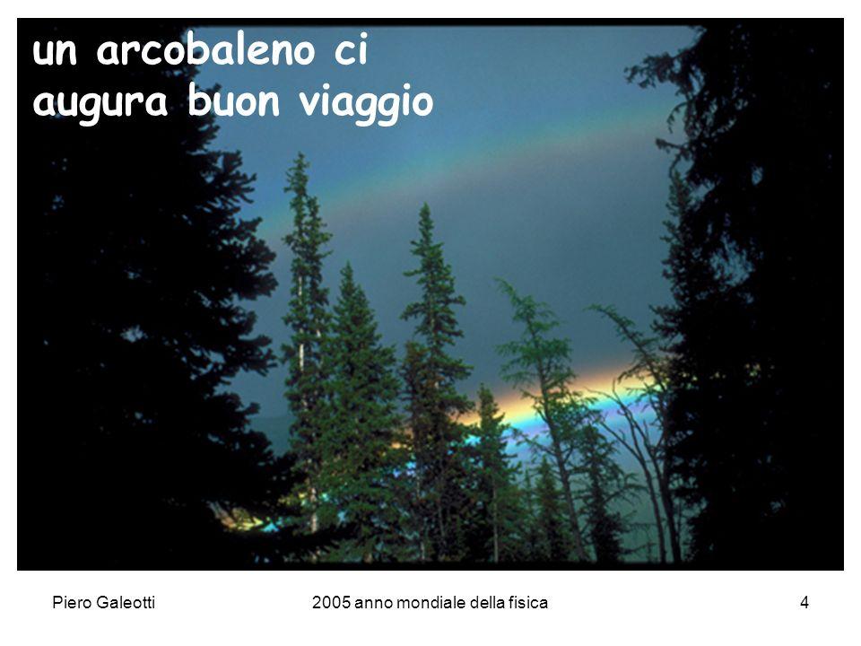 Piero Galeotti2005 anno mondiale della fisica4 un arcobaleno ci augura buon viaggio