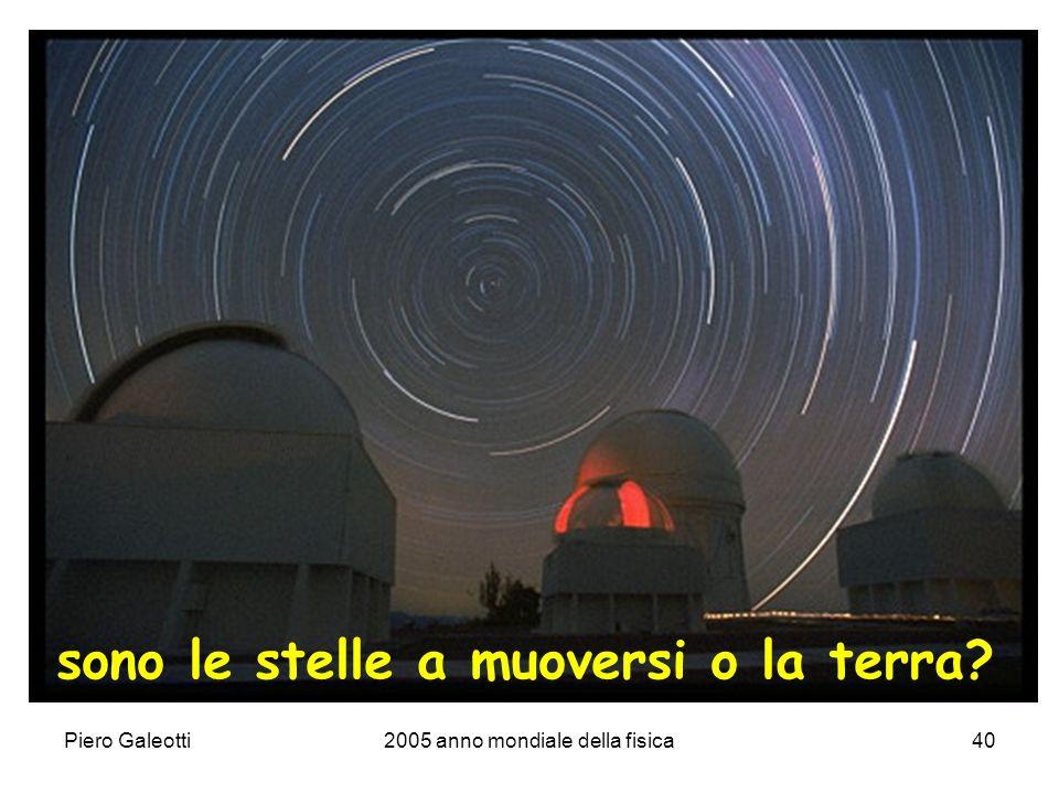Piero Galeotti2005 anno mondiale della fisica40 sono le stelle a muoversi o la terra?