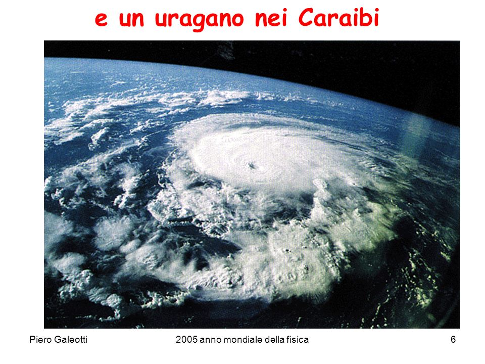 Piero Galeotti2005 anno mondiale della fisica6 e un uragano nei Caraibi