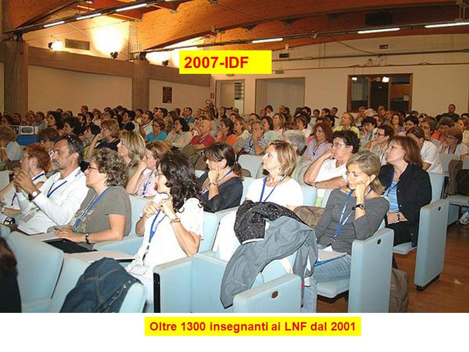 2007-IDF Oltre 1300 insegnanti ai LNF dal 2001