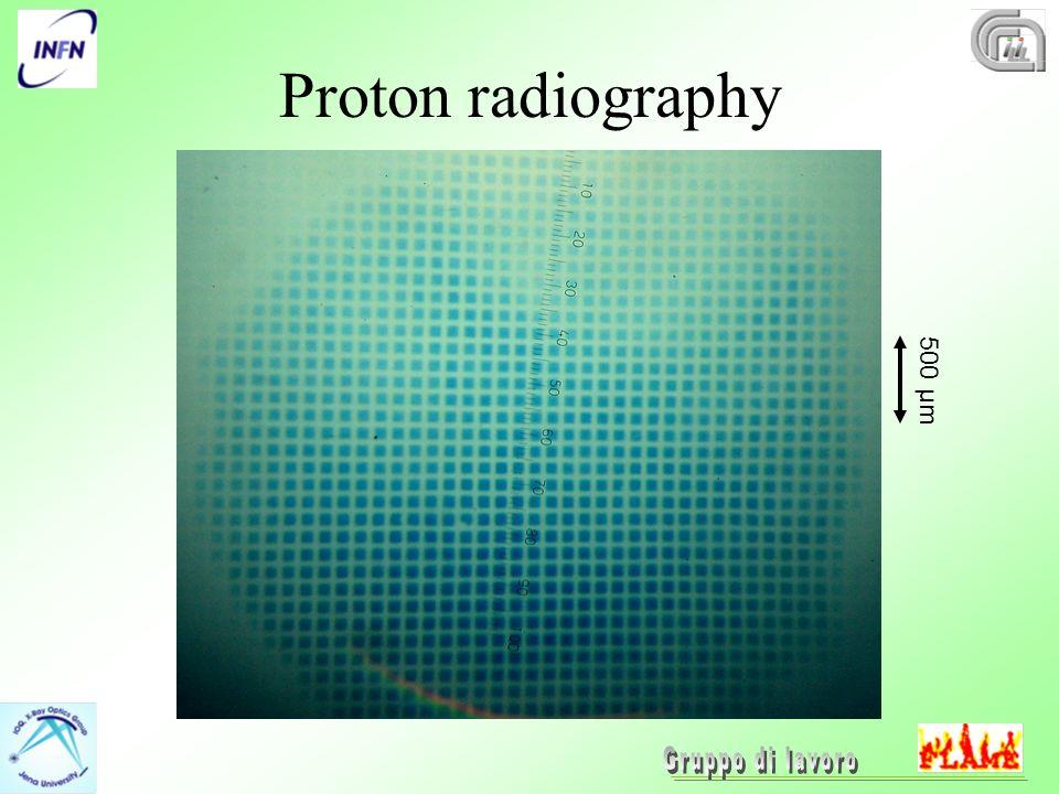 Proton radiography 500 µm