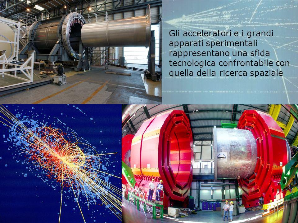 Gli acceleratori e i grandi apparati sperimentali rappresentano una sfida tecnologica confrontabile con quella della ricerca spaziale