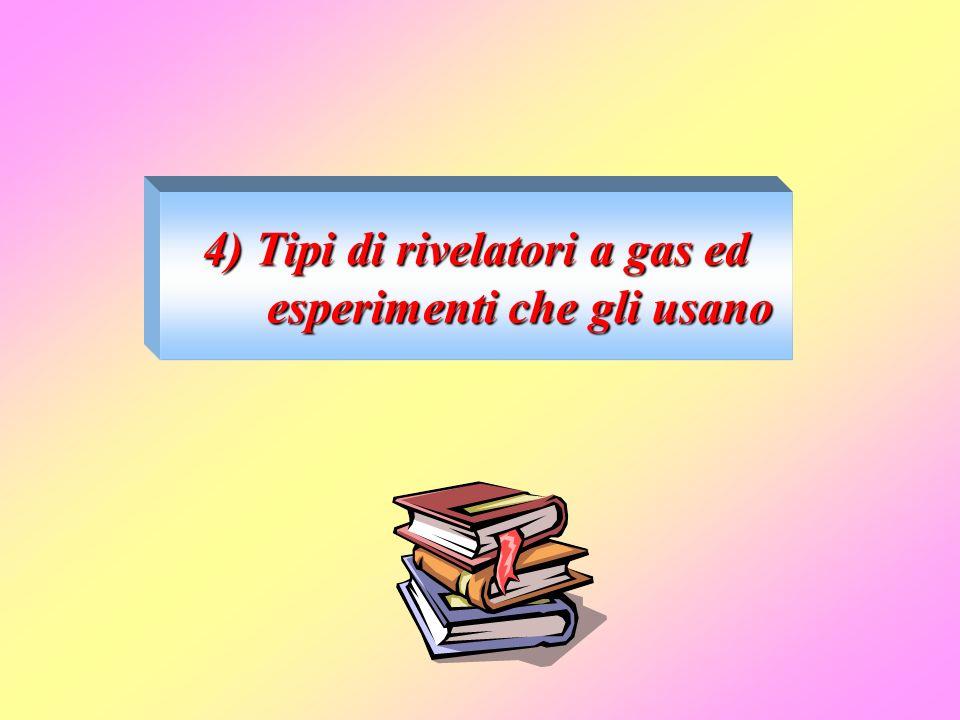 4) Tipi di rivelatori a gas ed esperimenti che gli usano