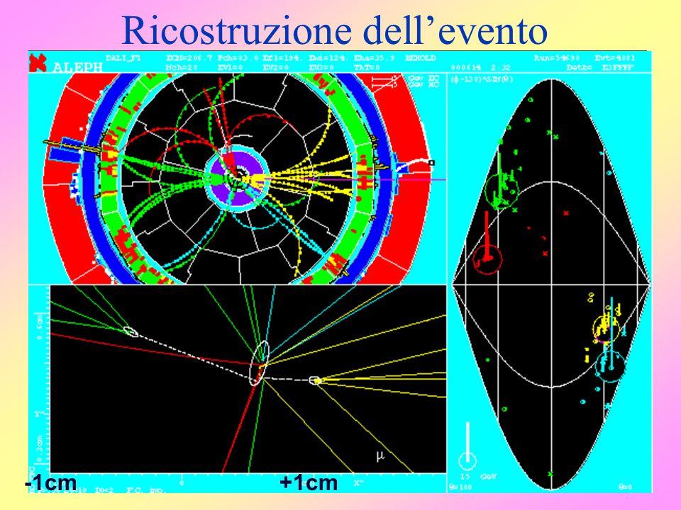 Esperimento ALEPH 1988-2001 e + e - si no Ricostruzione dellevento e + e - + - si e + e - q q si no 1 cm -1cm+1cm