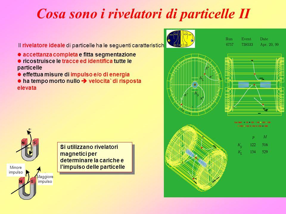 Cosa sono i rivelatori di particelle II l accettanza completa e fitta segmentazione l ricostruisce le tracce ed identifica tutte le particelle l effet