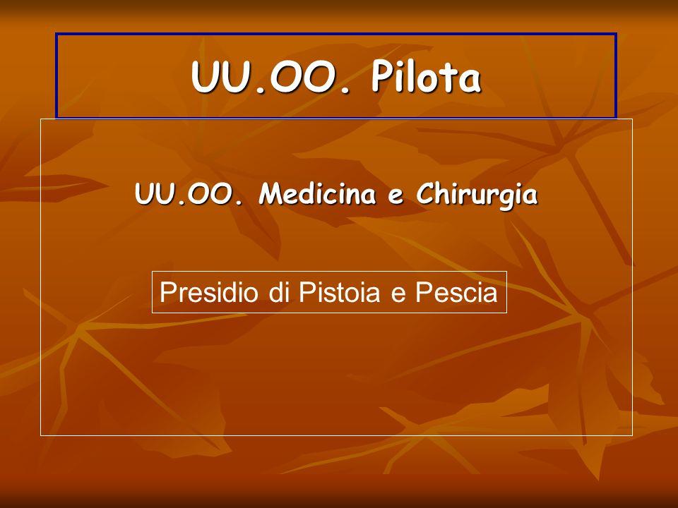 UU.OO. Pilota Presidio di Pistoia e Pescia UU.OO. Medicina e Chirurgia