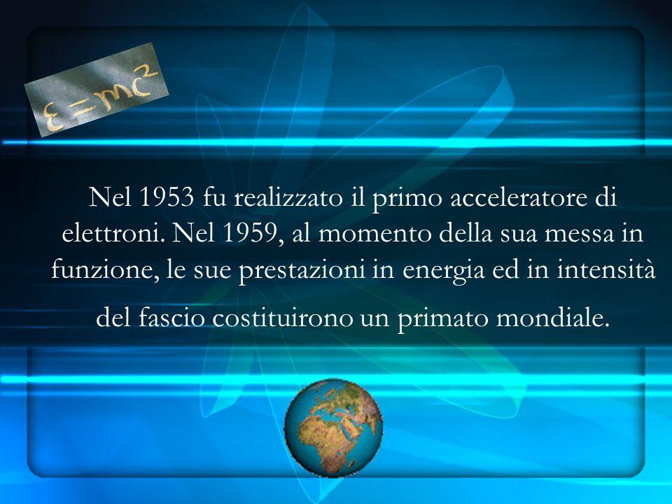 Nel 1953 fu realizzato il primo acceleratore di elettroni.
