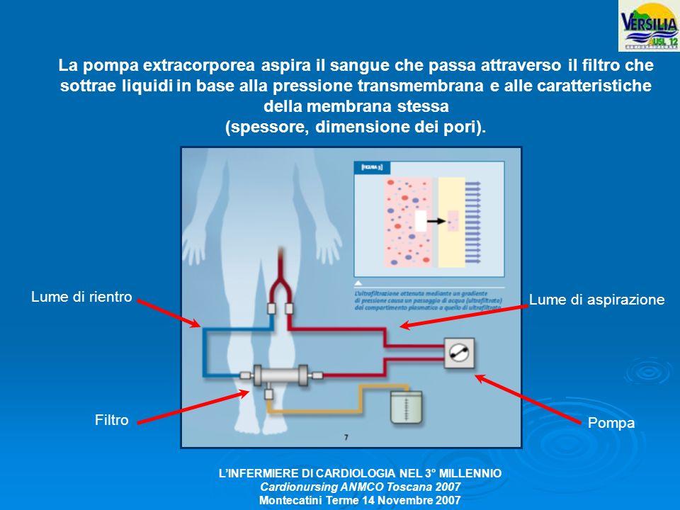 LINFERMIERE DI CARDIOLOGIA NEL 3° MILLENNIO Cardionursing ANMCO Toscana 2007 Montecatini Terme 14 Novembre 2007 La pompa extracorporea aspira il sangu