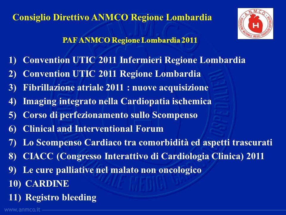 1)Convention UTIC 2011 Infermieri Regione Lombardia 2)Convention UTIC 2011 Regione Lombardia 3)Fibrillazione atriale 2011 : nuove acquisizione 4)Imagi