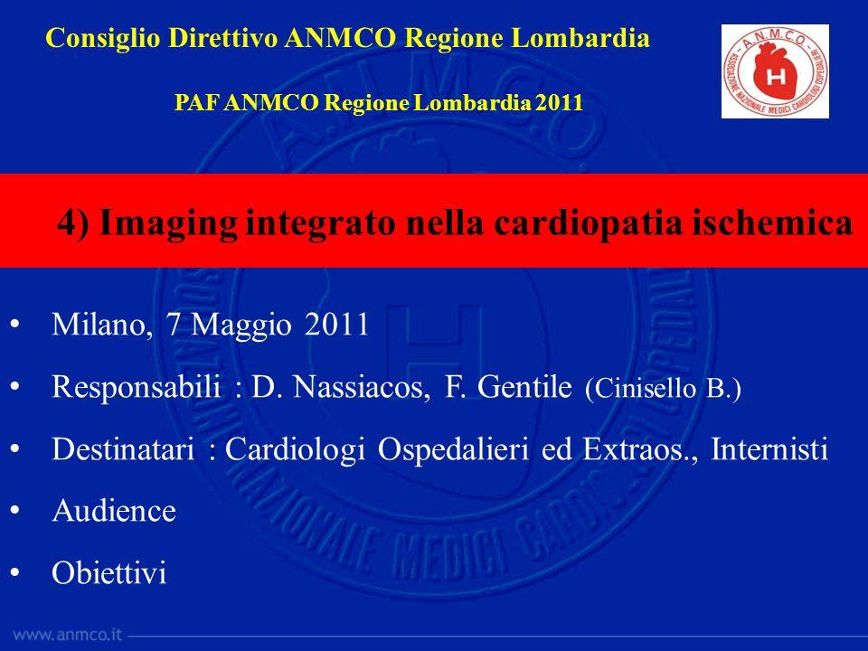 Milano, 7 Maggio 2011 Responsabili : D. Nassiacos, F. Gentile (Cinisello B.) Destinatari : Cardiologi Ospedalieri ed Extraos., Internisti Audience Obi