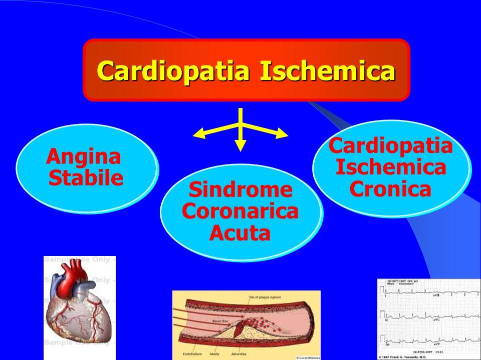 3 Cardiopatia Ischemica Angina Stabile Angina Stabile Sindrome Coronarica Acuta Sindrome Coronarica Acuta Cardiopatia Ischemica Cronica Cardiopatia Is