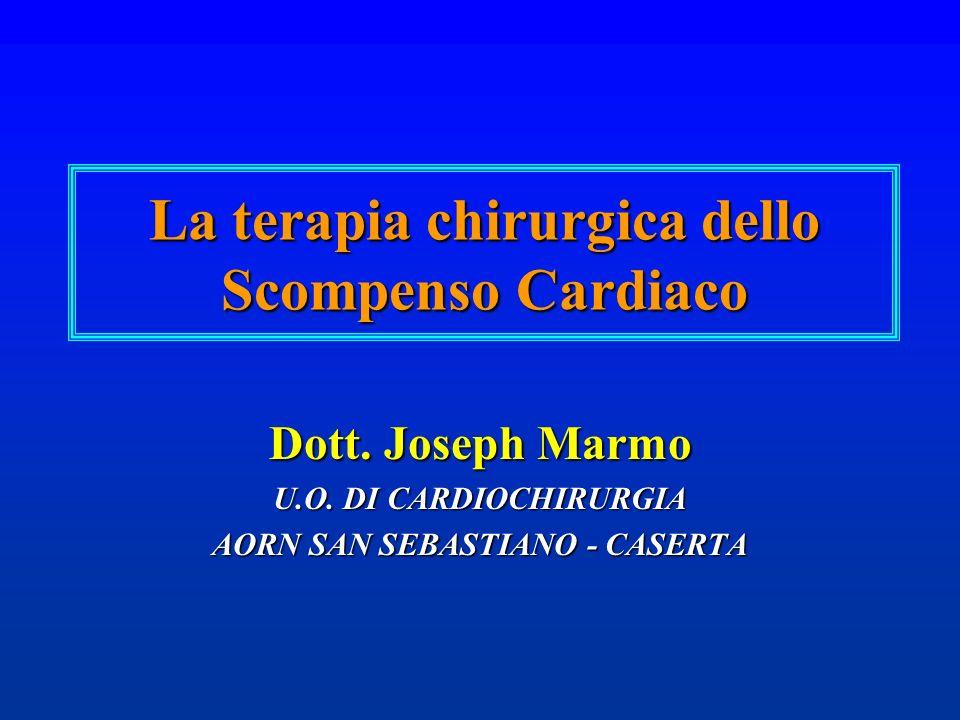 La terapia chirurgica dello Scompenso Cardiaco Dott. Joseph Marmo U.O. DI CARDIOCHIRURGIA AORN SAN SEBASTIANO - CASERTA