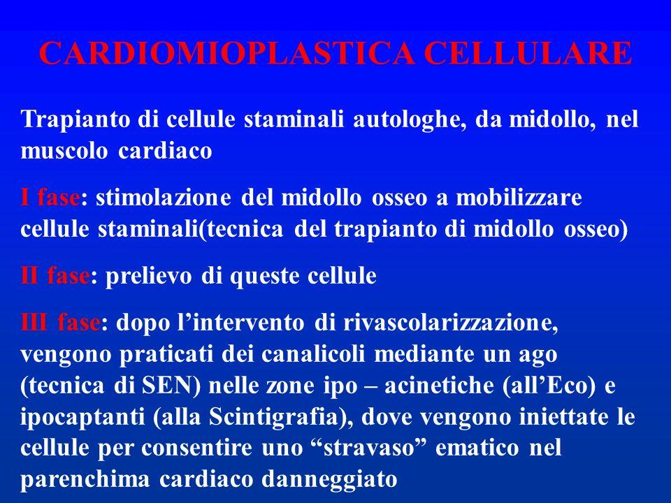 Trapianto di cellule staminali autologhe, da midollo, nel muscolo cardiaco I fase: stimolazione del midollo osseo a mobilizzare cellule staminali(tecn