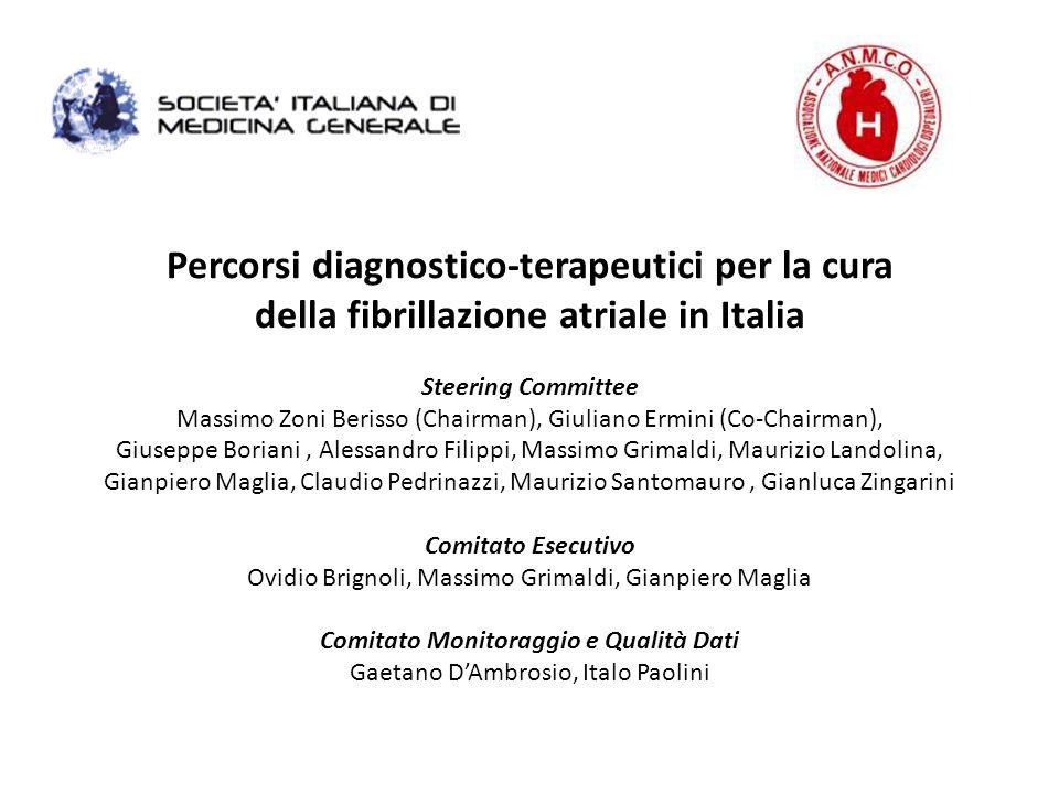 Percorsi diagnostico-terapeutici per la cura della fibrillazione atriale in Italia Steering Committee Massimo Zoni Berisso (Chairman), Giuliano Ermini