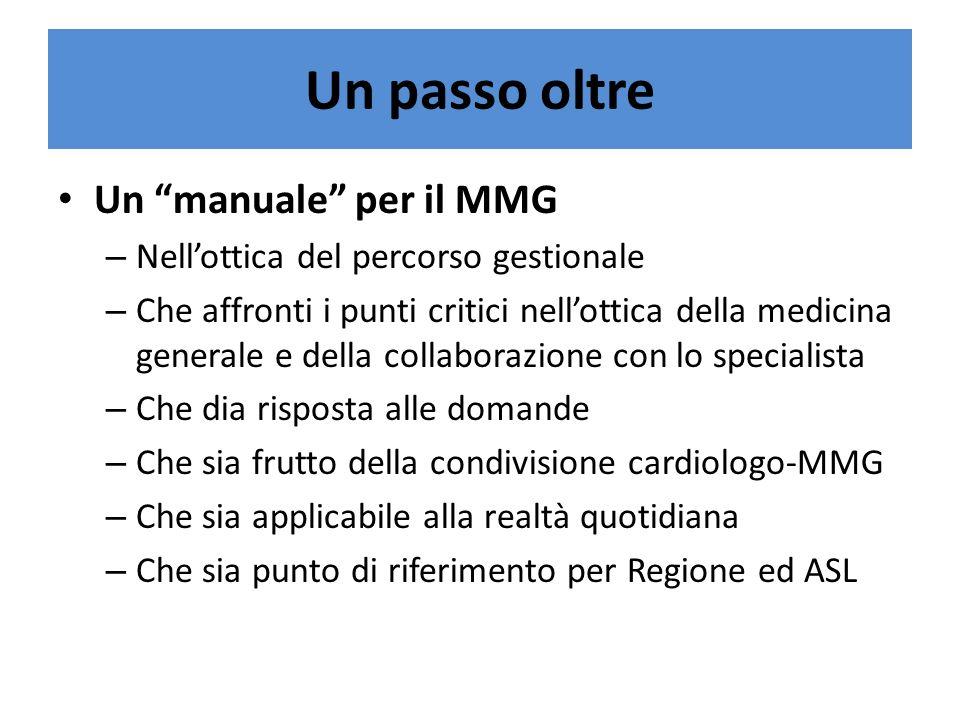 Un passo oltre Un manuale per il MMG – Nellottica del percorso gestionale – Che affronti i punti critici nellottica della medicina generale e della co