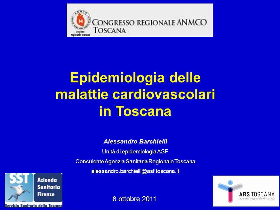 Alessandro Barchielli Unità di epidemiologia ASF Consulente Agenzia Sanitaria Regionale Toscana alessandro.barchielli@asf.toscana.it Epidemiologia del
