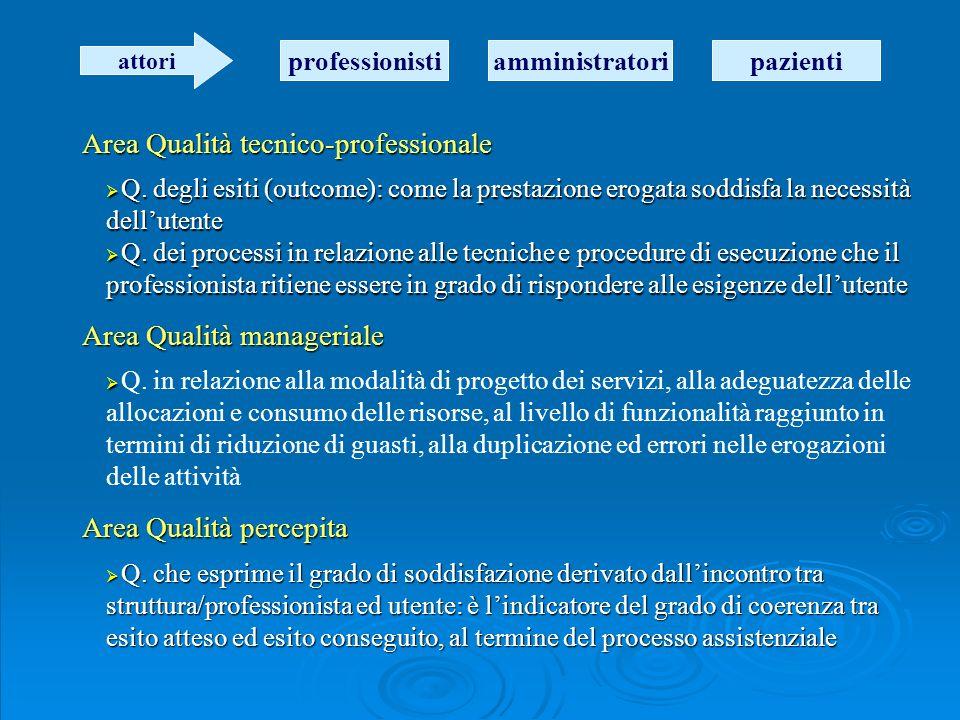 Misurazione della qualità La possibilità concreta di valutare la Q.