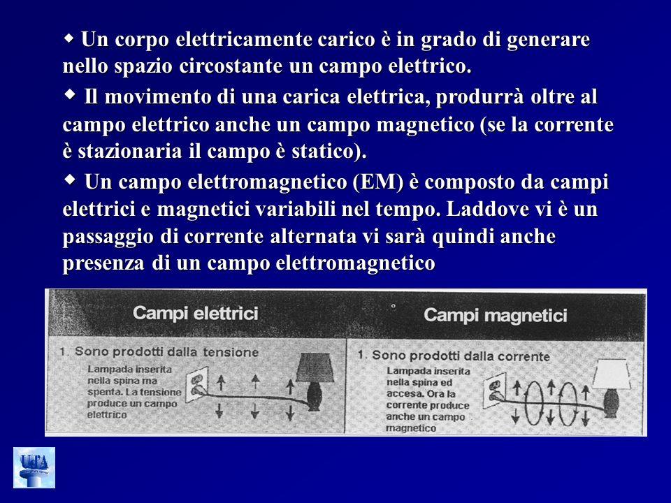 Un corpo elettricamente carico è in grado di generare nello spazio circostante un campo elettrico. Un corpo elettricamente carico è in grado di genera