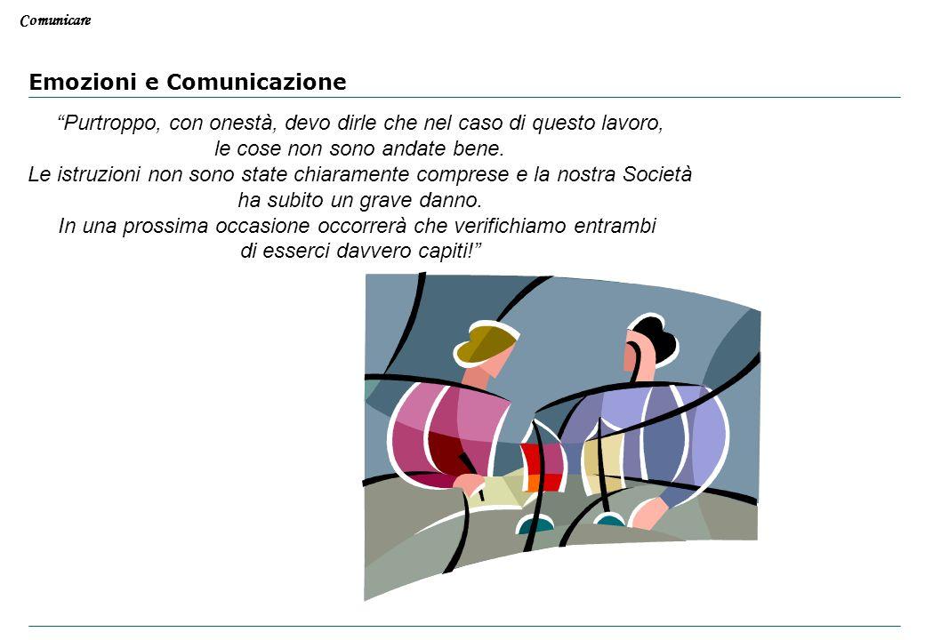 Comunicare Emozioni e Comunicazione Questo lavoro non va bene! Non ha proprio capito le istruzioni che le erano state date, in questo modo abbiamo tut