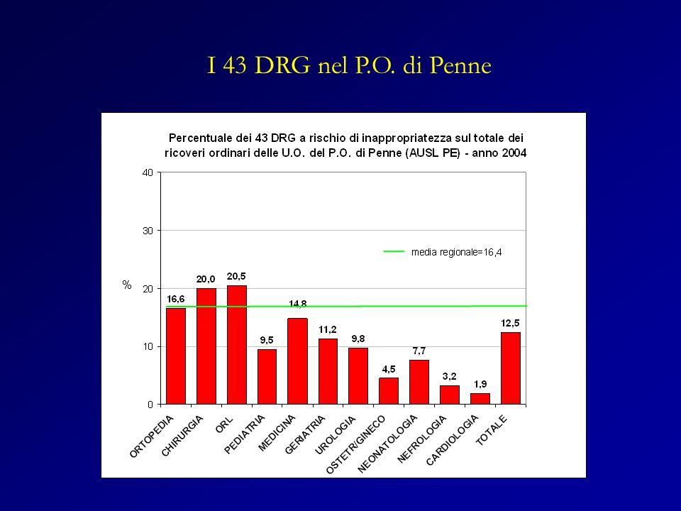 I 43 DRG nel P.O. di Penne