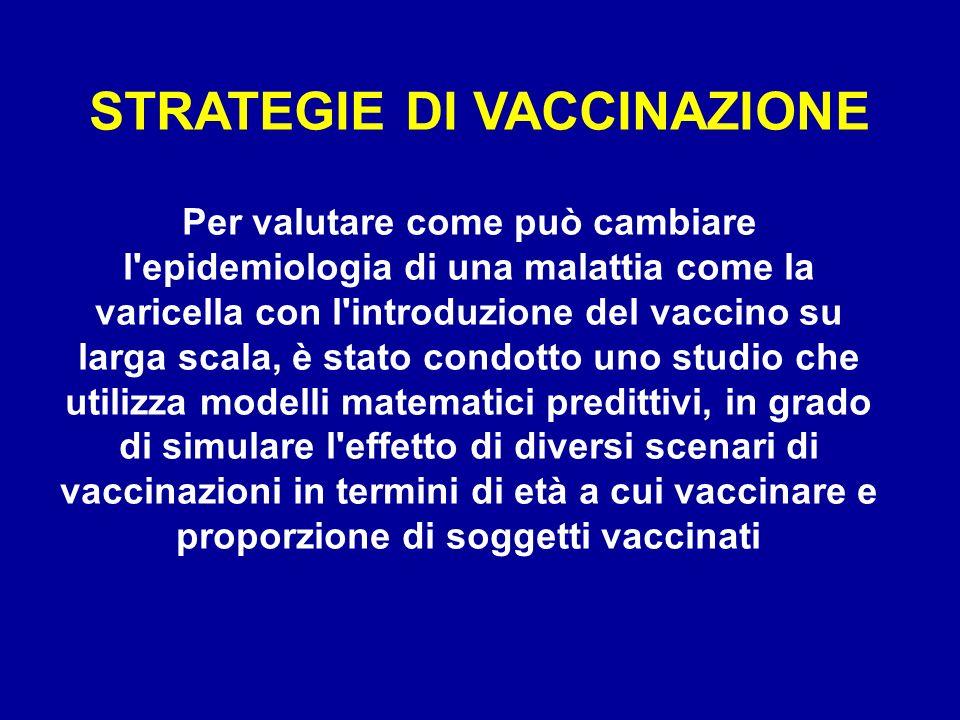 Per valutare come può cambiare l'epidemiologia di una malattia come la varicella con l'introduzione del vaccino su larga scala, è stato condotto uno s