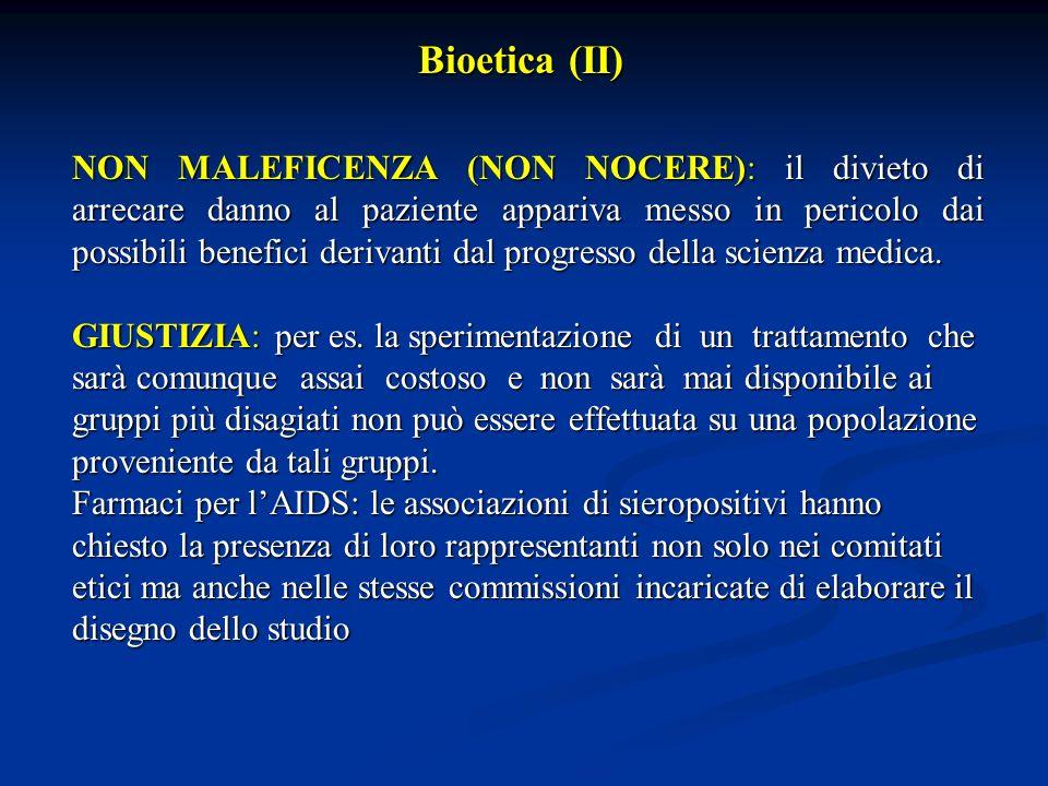 COMITATI ETICI: struttura indipendente formata da medici e non medici per la tutela dei diritti, della sicurezza e del benessere dei soggetti coinvolti in uno studio clinico.