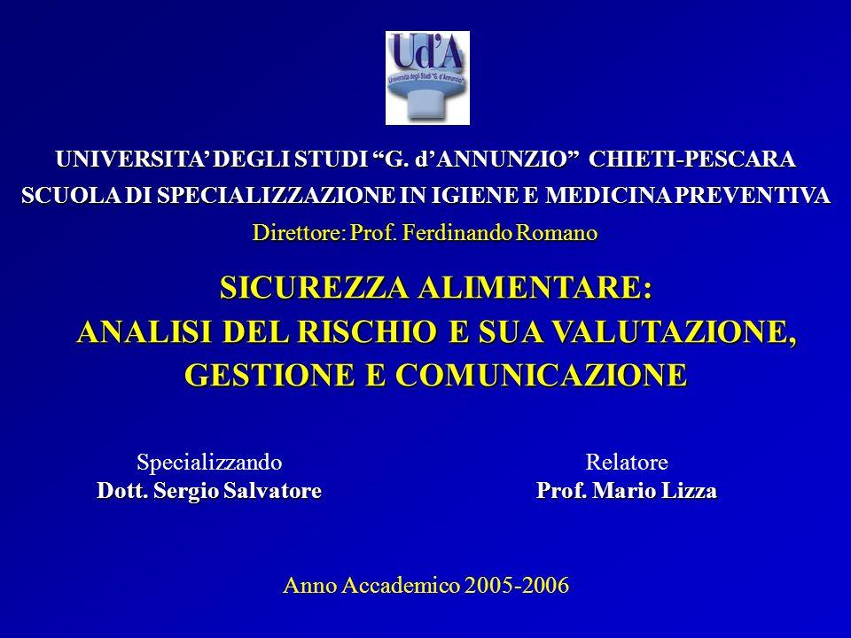 UNIVERSITA DEGLI STUDI G. dANNUNZIO CHIETI-PESCARA SCUOLA DI SPECIALIZZAZIONE IN IGIENE E MEDICINA PREVENTIVA Direttore: Prof. Ferdinando Romano SICUR