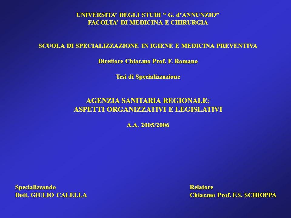 UNIVERSITA DEGLI STUDI G.
