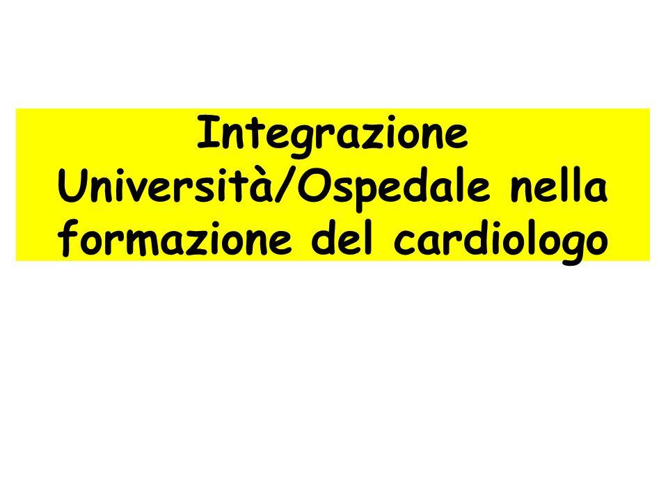 Integrazione Università/Ospedale nella formazione del cardiologo
