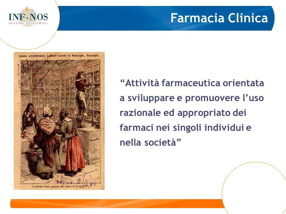 Attività farmaceutica orientata a sviluppare e promuovere luso razionale ed appropriato dei farmaci nei singoli individui e nella società Farmacia Clinica
