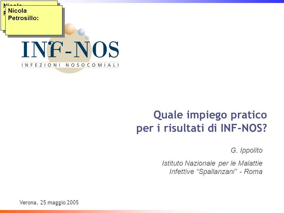 Verona, 25 maggio 2005 Nicola Petrosillo: Quale impiego pratico per i risultati di INF-NOS.